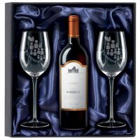 750ml Red Wine & 2 Glasses Gift Set-KA033